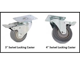 """CASTERS FOR 21"""" AND 28"""" DEPTH DRAWER CABINETS"""